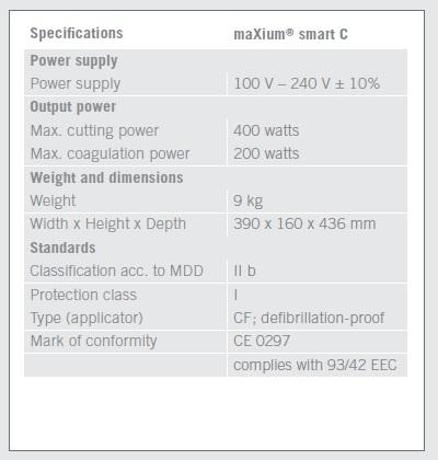 maxium_smart_C_technical_data