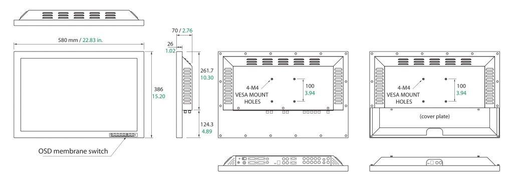 Monitor medyczny FULL HD 24