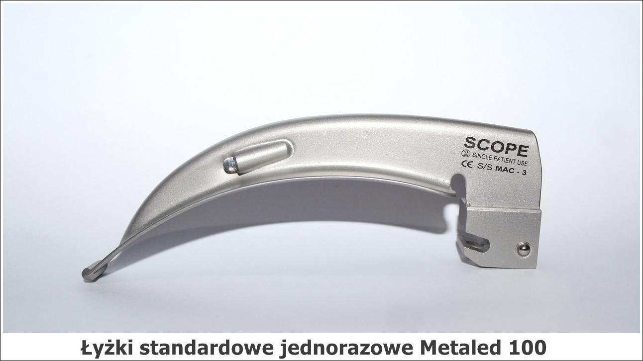 łyżki standardowe jednorazowe Metaled 100