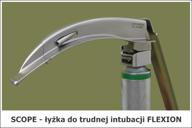 łyżki do trudnej intubacji Flexion - światłowodowe