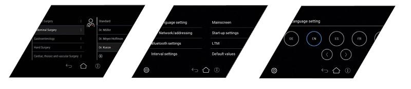 menu w lampach operacyjnych Marled X